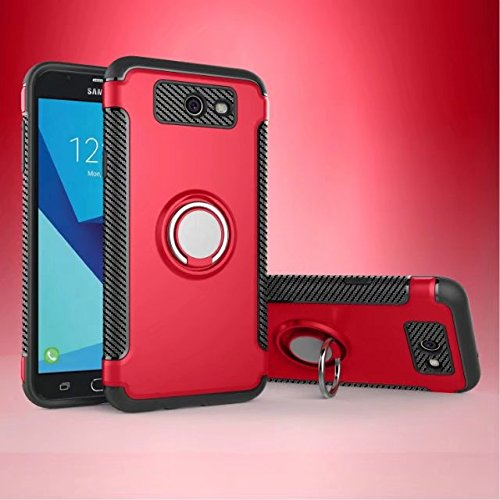 Cover for Samsung Galaxy J7 2017 Case, 2 in 1 360 Degree Ring StandDual Layer TPU Bumper Shockproof Support Magnetic Car Mount Holder Thin Case for Samsung Galaxy J7 2017 (4) by 22miter