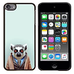 TECHCASE---Cubierta de la caja de protección para la piel dura ** Apple iPod Touch 6 6th Touch6 ** --Hipster Leemur en el juego