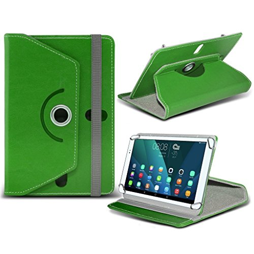 Aventus (White) 10.1 Tablet 360 Grad drehende lederne Schwenker-Standplatz-Fall-Abdeckung mit Schreibfeder eingeschlossen für Polaroid A1000x Green