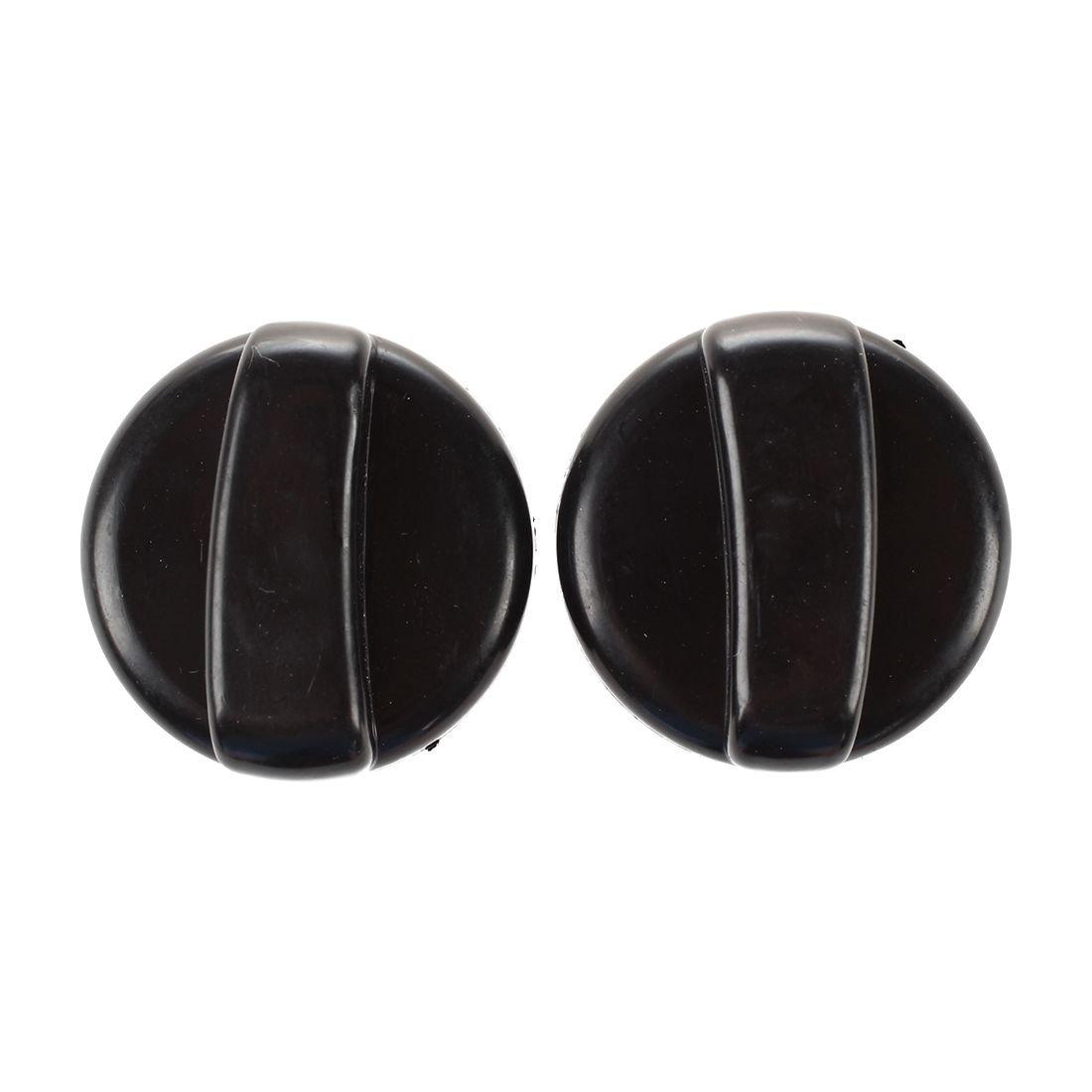 SODIAL Plastic Gas Stove Cooker Control Knobs 2 PCS Black