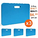 Gardzen 3 Pack Garden Kneeling Pad - For Gardening, Baby Bath, Yoga, Pilates, Exercise, 18''x11''x1'', Blue