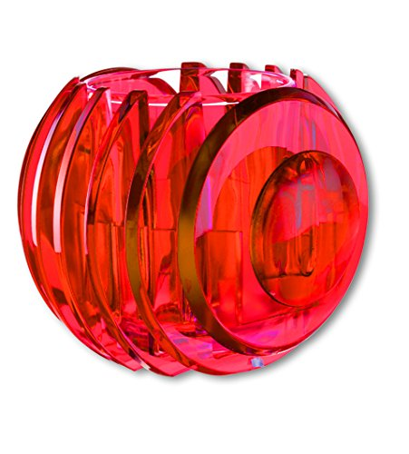 Koziol RAY Tealight Holder Transparent neon Orange