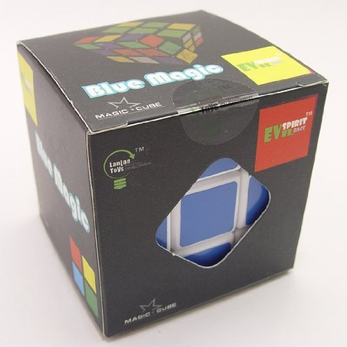 Lanlan/® Blue Magic 3X3 Sticker Speed Cube-White B0047MXRQ6-Ocean