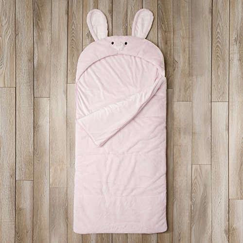 Toddler Sleeping Bag Kids Plush Bunny Rabbit Faux Fur Gift Slumber Bag (Pink) by BearBag