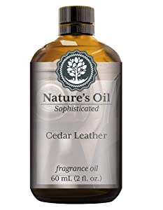 Cedar Leather Fragrance Oil (60ml) For Cologne, Beard Oil, Diffusers, Soap Making, Candles, Lotion, Home Scents, Linen Spray, Bath Bombs