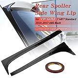 Ruien Car Rear Spoiler Side Side Wing Roof Lip Black for VW Golf 7 MK7 Standard 2014-2017 Auto Window Accessories Deflectors with Tape