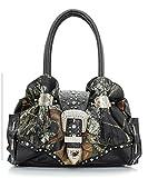 Mossy Oak Black Camouflage Rhinestone Studded Handbag