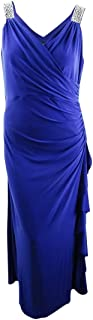 product image for BETSY & ADAM Women's Plus Embellished Faux-wrap Gown Dress