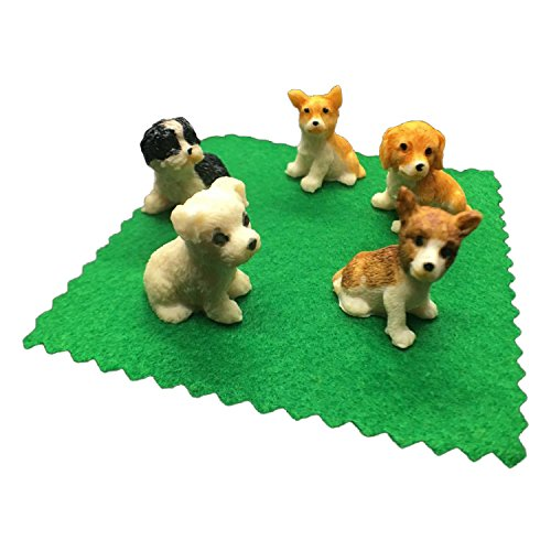 5 Pieces Little World Miniature Fairy Garden Dog, Size 1.8-2 Cm., Made Of (Dalmatian Halloween Costume Diy)