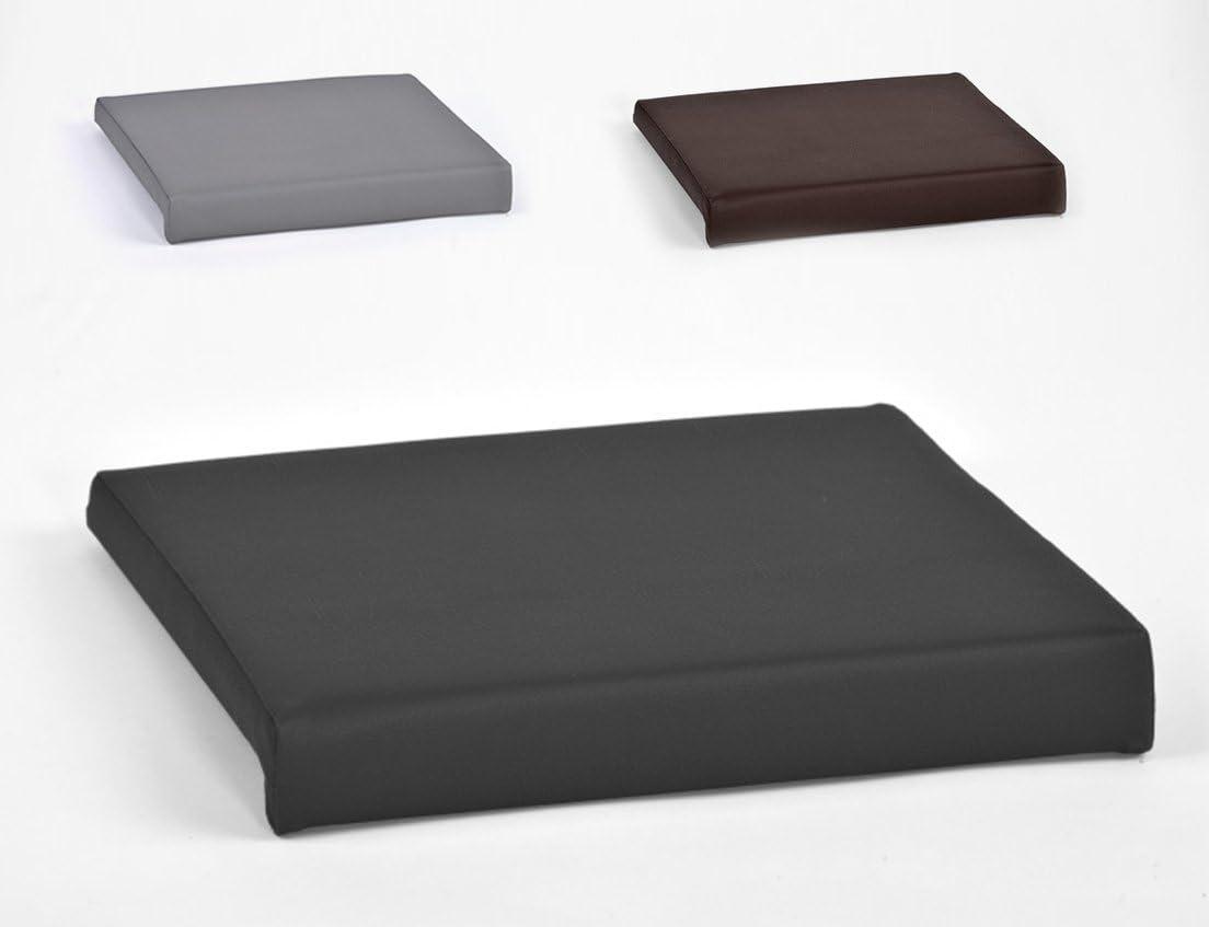 Animal Design Almohadillas de sujeción para cojín del Asiento de Banco 1 Bar Ca. Cuero Artificial B 40 cm X 35 T / 38 6 H en Gray, de Color Negro o marrón