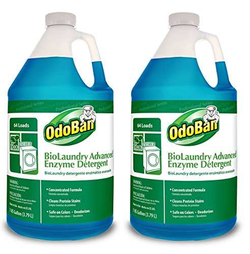 OdoBan Professional Cleaning and Odor Control Solutions, BioLaundry Advanced Enzyme Detergent, 2 Gal by OdoBan