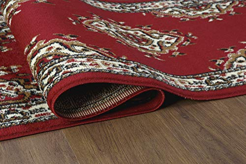 "Antep Rugs Kashan King Collection Himalayas Oriental Polypropylene Indoor Area Rug Runner (Maroon/Beige, 2' x 7') - FASHIONABLE FLOOR RUG: This versatile area rug features a stylish color scheme and a bold, eye-catching pattern that will effortlessly complement any décor. DO NOT remove the label on the back of the rug, removing may damage the rug permanently. VERSATILE GOOD LOOKS: Add a fashionable complement to a living room, dining room or bedroom with this versatile indoor area rug. With its classic color scheme and practical size, this area rug makes an attractive addition to any décor. DURABLE COMFORT: Machine-made from stain-resistant and stylish 100% Polypropylene, this durable area rug is designed for comfort and style. With a pile height of 0.3"", this floor rug offers cushioned comfort without being too bulky. - runner-rugs, entryway-furniture-decor, entryway-laundry-room - 51yBNcedk6L -"