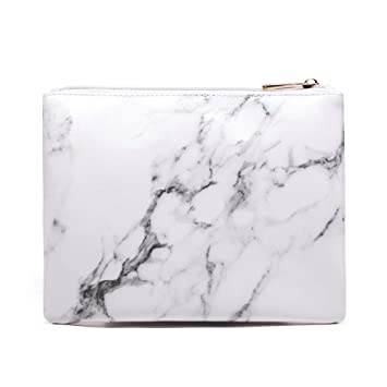 d4642c7fe9aa Joyful Marble Cosmetic Bag Zipper Storage Bag Portable Ladies Travel Square  Makeup Brushes Bag (8.7