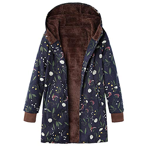 HYIRI Womens Winter Warm Outwear Classic Floral Print, used for sale  Delivered anywhere in USA
