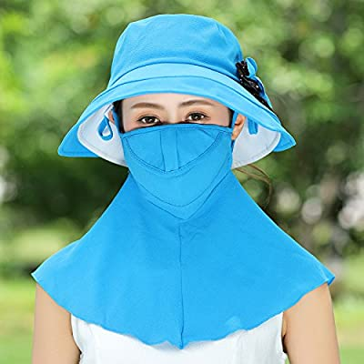 GAOQIANGFENG Chapeau Womens Summer nécessaire UPF 900+ UV Protection pare-soleil Plage dissimulations Womens Caps