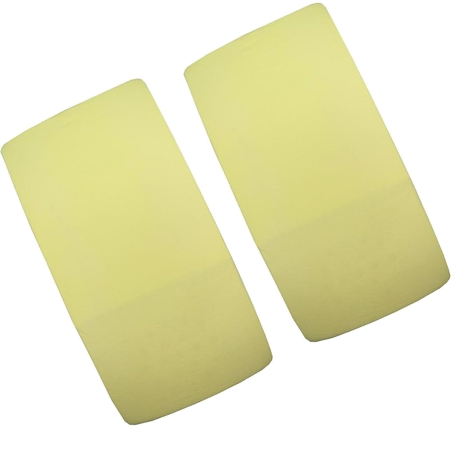 2/x cuna Jersey S/ábana Bajera ajustable 100/% algod/ón 120/cm x 60/cm color amarillo yellow-by For-your-Little-One