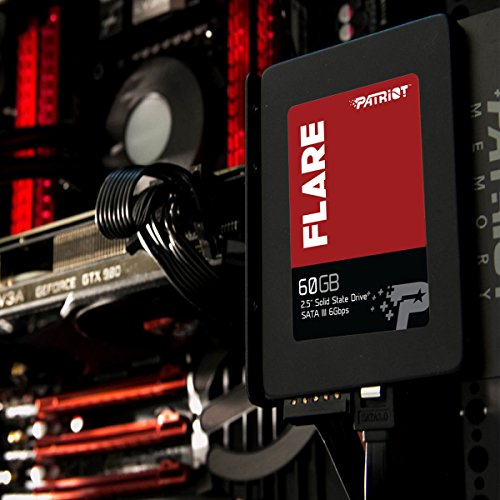 Patriot Flare 60GB MLC NAND Solid State Drive, SSD, Transfer Speeds Up To 555 MB/s PFL60GS25SSDR by Patriot (Image #2)