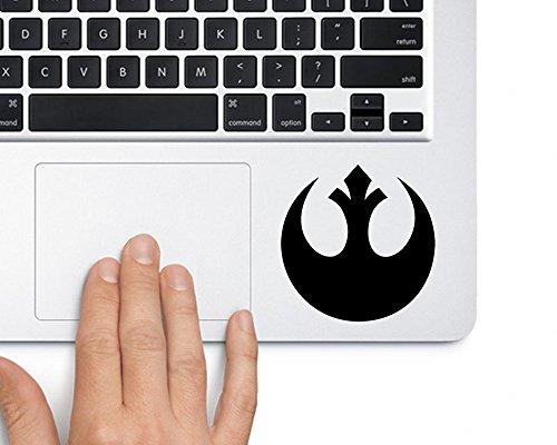(Rebel Alliance Logo Star Wars Vinyl Sticker Decal for Laptop and MacBook Trackpad)