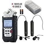 Zoom H4n PRO 4-Channel Handy Recorder Bundle with Movo Omnidirectional and Cardioid XLR Lavalier Microphones