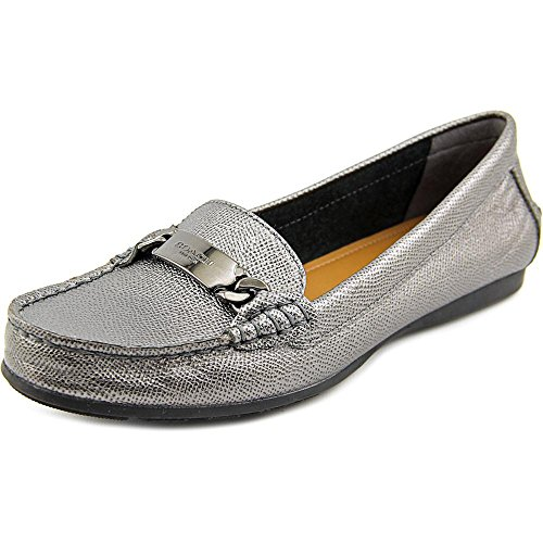 Coach Women's Olive Met Cross Grain Leather Loafer Flats (7) by Coach