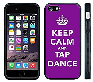 Apple iPhone 6 Black Rubber Silicone Case - Keep Calm and Tap Dance dancing