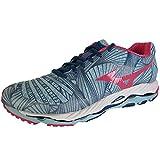 Cheap Mizuno Women's Wave Paradox Running Shoe, Porcelain Blue/Rouge Red, 6 B US