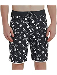 38fc2d9a3f3723 Mens Board Shorts No Mesh Lining, Water Resistant Stretch Swim Trunk with  Pocket, 20