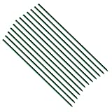 Eco.Fabric 0.27''X 72'' Fiberglass Garden Stakes,Tomato Stakes,Plant Stakes,Climbing Plants Supports Pole Dark Green 20pack