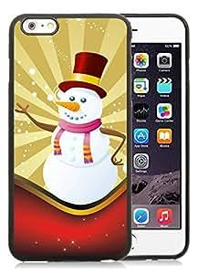 Popular Design iPhone 6 Plus Case,Christmas snowman Black iPhone 6 Plus 5.5 Case 11