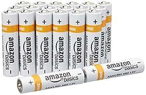 AmazonBasics AAA Everyday Alkaline Batteries (20-Pack) - Packaging May Vary