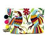 Otomi Embroidery Oversized Clutch Handbag Big Clutch