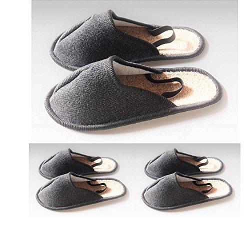 Musée Chaussons, les artisans Pantoufles, Couvre-chaussures avec élastique au talon 3paires