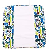 Ah Goo Baby Plush Pad Portable Travel Changing Pad with Memory Foam, Zoo Frenzy Pattern