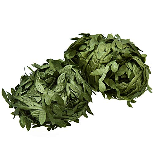 Timoo Greenery Garland, 132 Ft Artificial Vine Fake Hanging Plants Silk Leaves Garland for DIY Wedding Graduation Baby Shower Party Home Wall Decoration Christmas Garland Making]()
