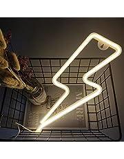Lightning Neon Light Lightning Bolt Neon Signs Lightning USB & Battery Powered Neon Night