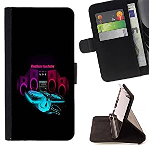 BETTY - FOR HTC One M8 - cool music electro control bass speaker - Style PU Leather Case Wallet Flip Stand Flap Closure Cover