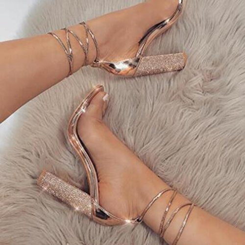 up Romanoas jianhui Block Verano Elegant Peep Zapatos De PVC De Lace Zapatos Mujer Sandalias Sandalias Fiesta Sandalias Sandalias Toe Casuales Zapatos Heels High Heel rnxYr7