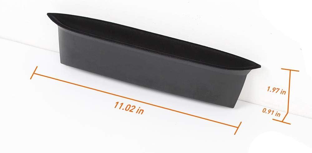 Interior Accessories Black Savadicar JK GrabTray with Microfiber Passenger Storage Tray Organizer Grab Handle Accessory Box for 2011-2018 Jeep Wrangler JK JKU 2-door//4-door