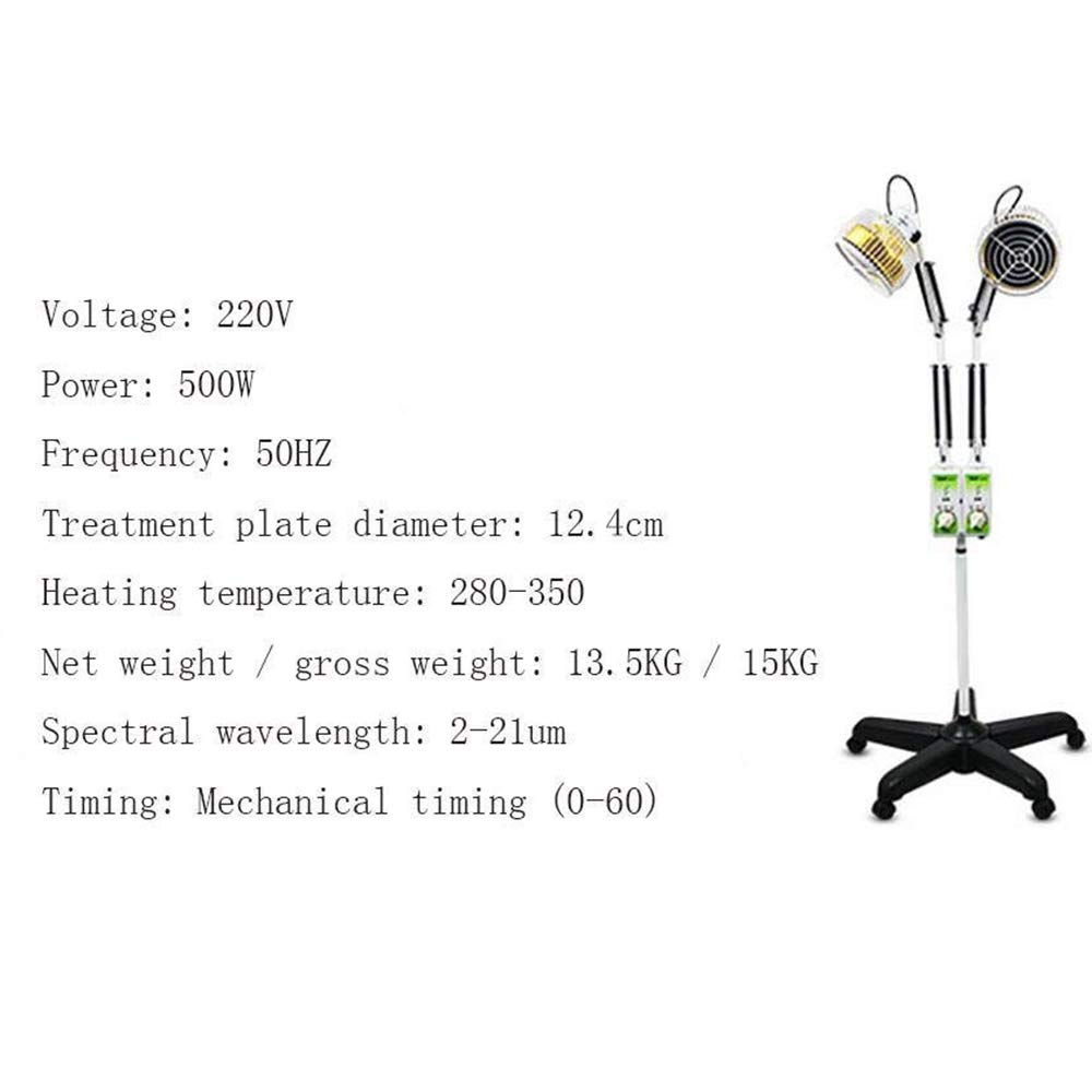 BHXUD Instrumento De Tratamiento Médico Hogar TDP Vertical Doble Cabeza Específica De Terapia De Ondas Electromagnéticas Instrumento De Fisioterapia: ...