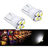 PA 25PCS #555 T10 4SMD LED Pinball Machine Light Bulb White-6.3V