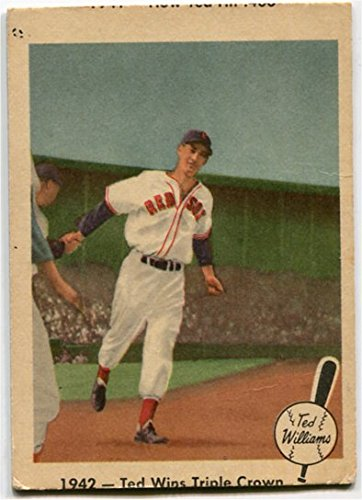 (Fleer 1959 Ted Williams 1942 Ted Wins Triple Crown Card #19 Boston Red Sox)
