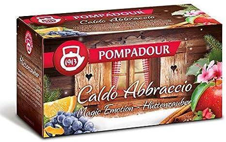 Pompadour 1913 Hot Infusion Abbraccio Fruit Blend aromatizado con pasas, ron y naranja - 1 x 20 bolsitas de té (60 gramos)