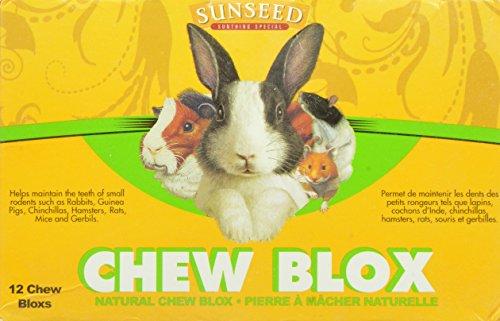 Sun Seed Company SSS39400 12-Pack Chinchilla Wood Chew Blox (Sun Seed Company Hamster)