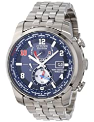 LIMITED EDITION Eli Manning World Time Radio Controlled Stainless Steel Case and Bracelet Blue Tone Dial