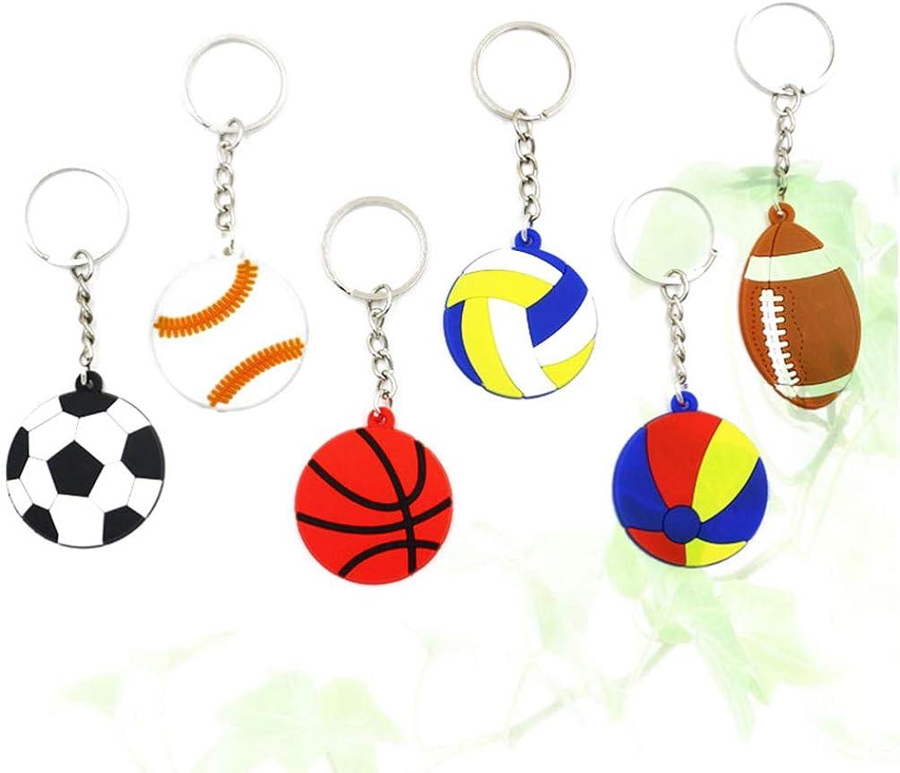 NUOBESTY de deportes de pelota pelota de playa llavero de ...