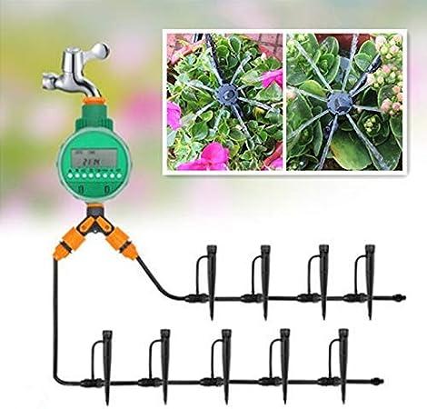 shengshiyujia 20/30 m Jardín DIY Sistema de riego por Goteo automático Micro Kits de riego automático Goteo Ajustable Dripper Enfriamiento,30m: Amazon.es: Hogar