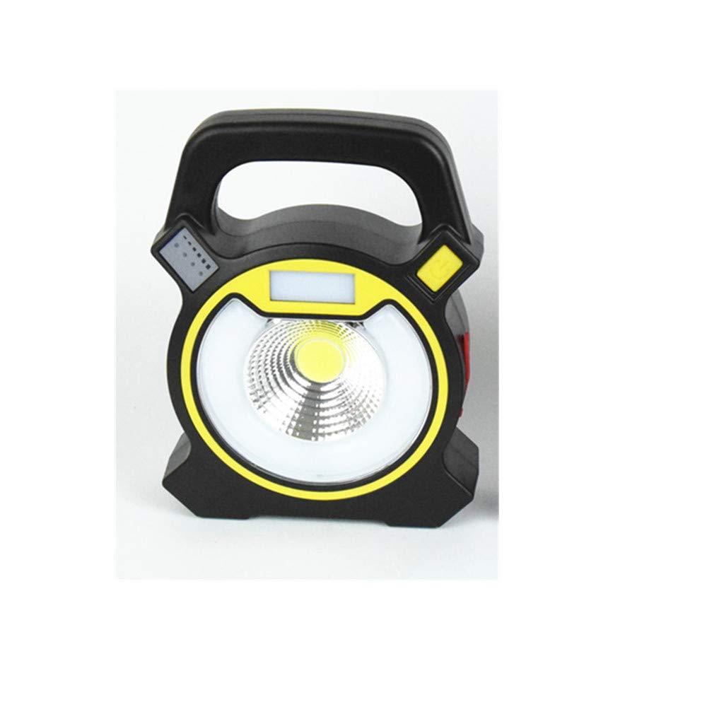 GLJJQMY Im Freien Kampierendes Zelt des Notfalles, Das Helles Verdunklungsartefakt-Hauptnachtlicht Auflädt Taschenlampe (Farbe : Gelb)