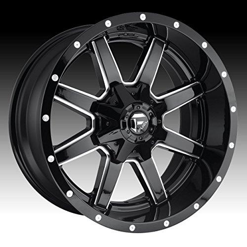 Fuel D610 Maverick 20×9 8×165.1/8×6.5″ +1mm Gloss Black/Milled Wheel Rim