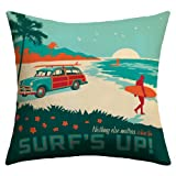 DENY Designs Anderson Group Surfs up Outdoor Throw Pillow, 18-Inch by 18-Inch