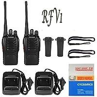 RFV1(tm) BF-888S UHF 400-470MHz CTCSS/DCS Handheld Amateur Radio Tranceiver Walkie Talkie Two Way Radio Long Range Black 2 Pack